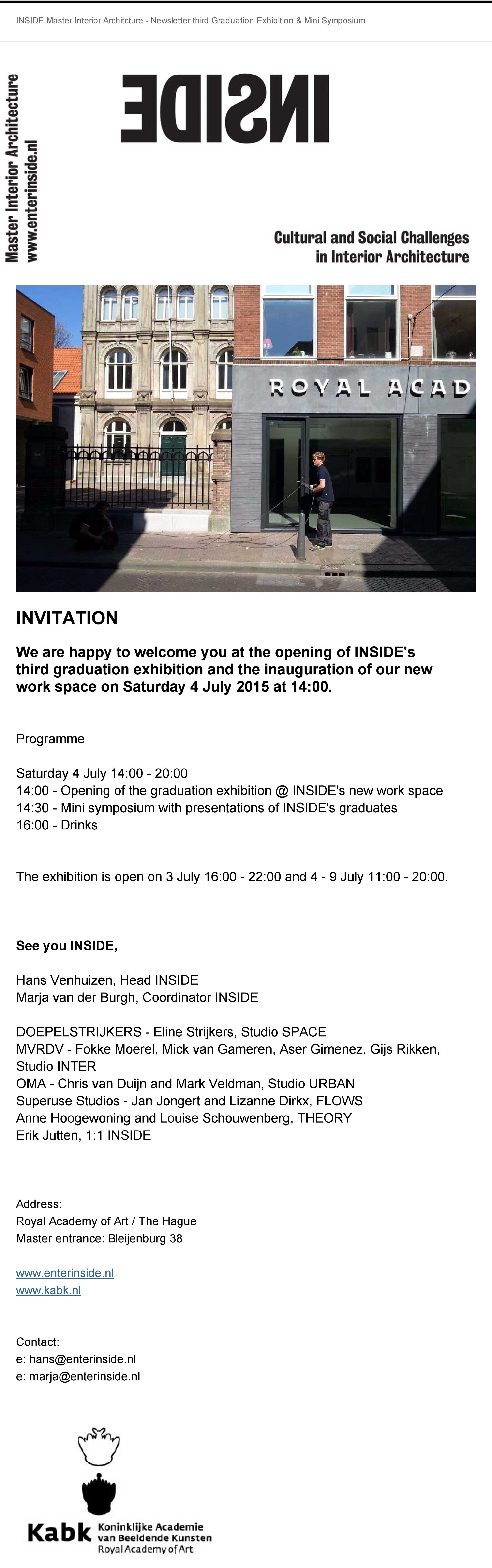 Invitation Graduation Exhibition