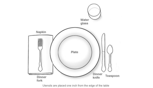 casual place setting diagram