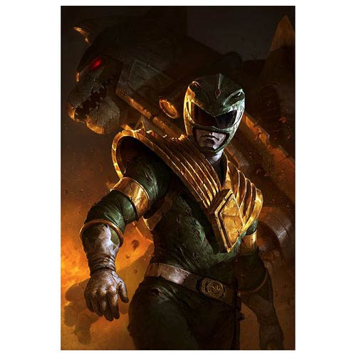Llg Car Wallpaper Power Rangers Green Ranger And Dragonzord Lithograph