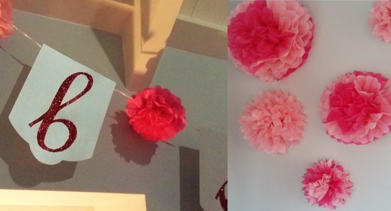 Paper Pom Poms - French Patisserie Themed Baby Shower