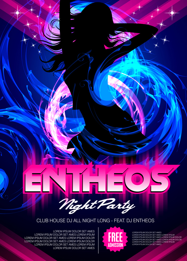 Party Poster Design with CorelDraw