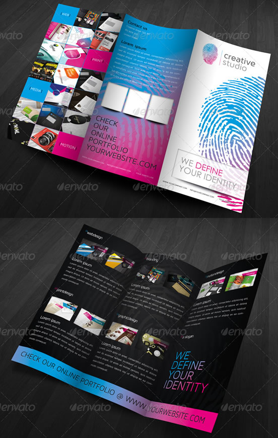 Creative Tri-fold Brochure Design Templates