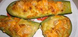Calabacín con pan rallado y bechamel