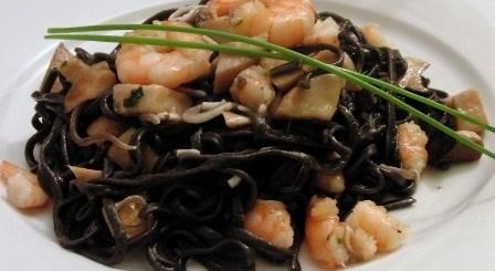 Espaguetis negros sepia