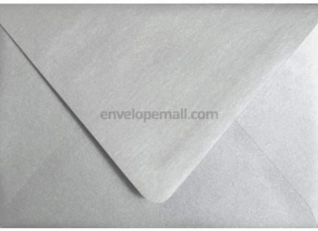 Stardream Metallic Silver Euro Flap 4-3/8 x 5-3/4\ - envelope a2