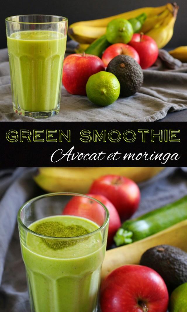 Green smoothie a l'avocat et au moringa : Un smoothie sain, généreux et plein de petits secrets !