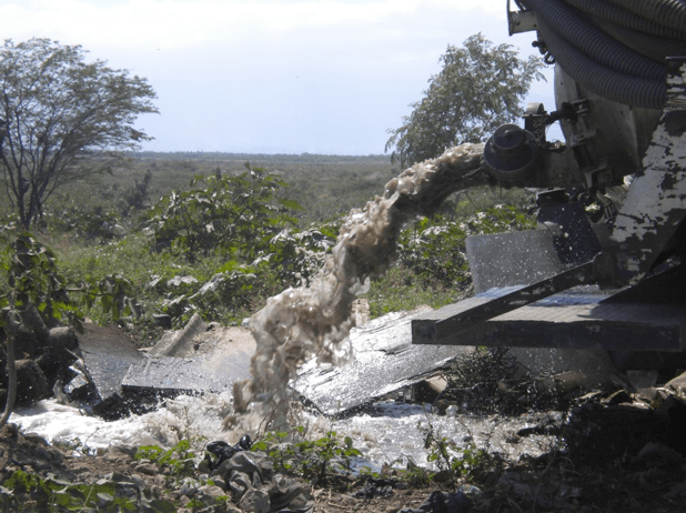 Human wastes are making their way into Haiti's waterways.