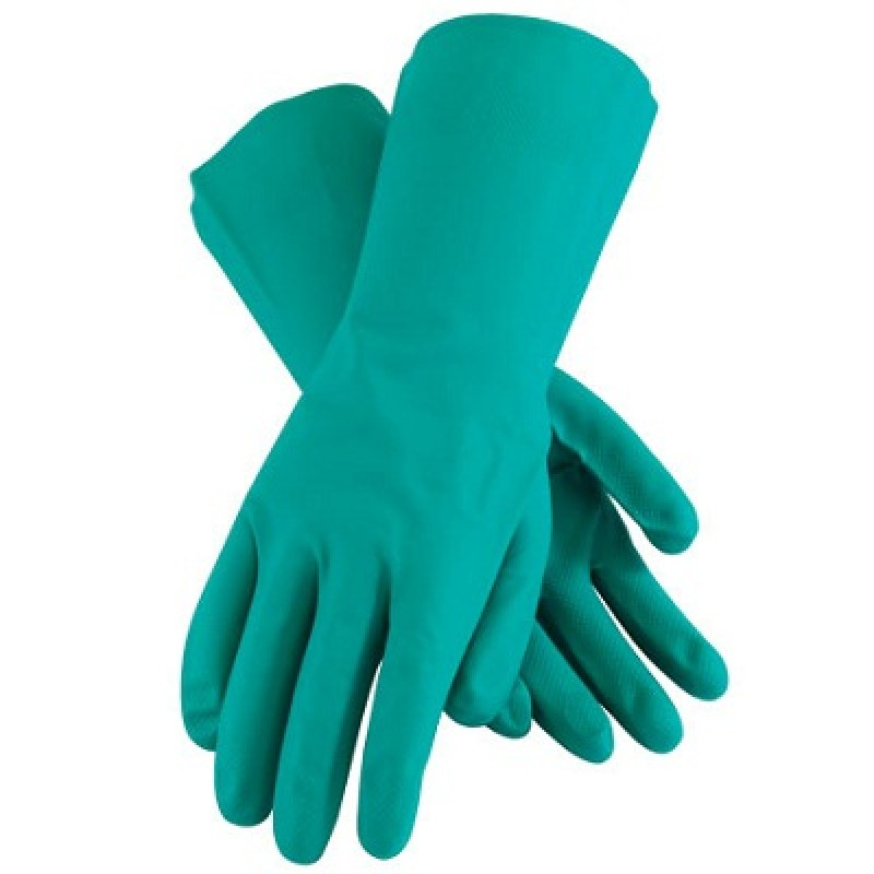 11 mil Chemical Resistant Nitrile Gloves with Embossed Diamond Grip