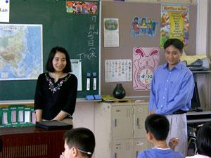 右がBaさん、左がLanさん ベトナムについてお話をしていただきました