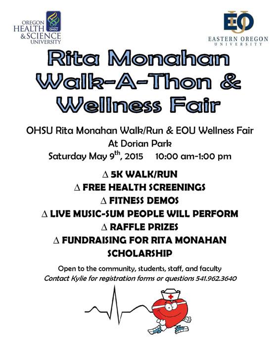 Walk-a-Thon  Wellness Fair, May 9 Eastern Oregon University