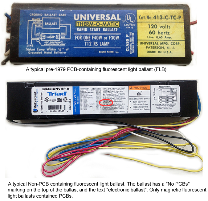 Polychlorinated Biphenyl (PCB)-Containing Fluorescent Light Ballasts