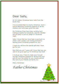 Free Printable Personalised Father Christmas Letters