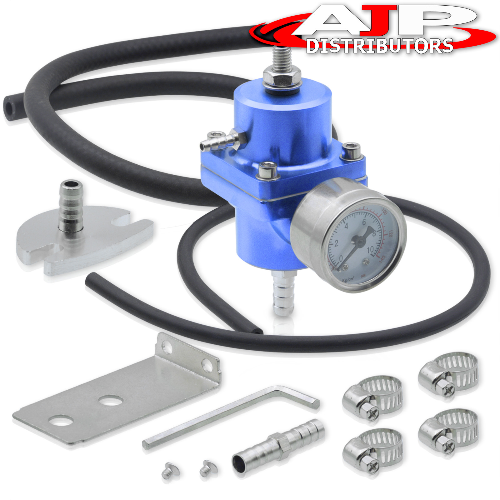 Adjustable Fuel Pressure Regulator+Gauge For Toyota Tacoma Ae86