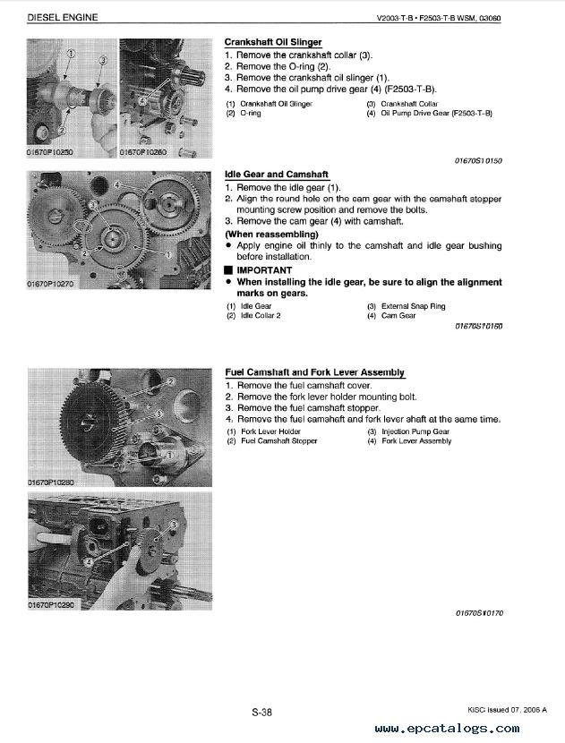 kubota v2003t engine parts manual