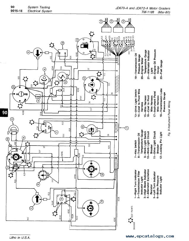 diagram electric grader 670