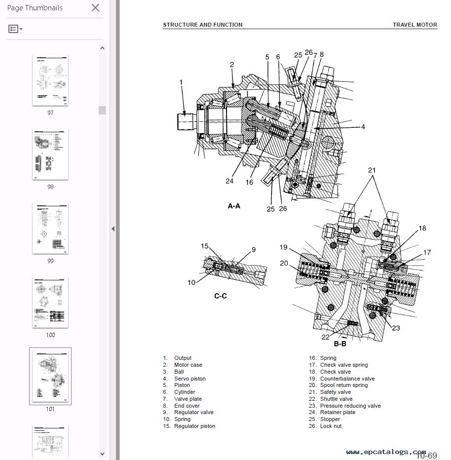 wiring komatsu schematics fb13m