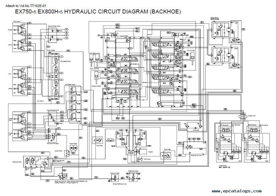 Hitachi EX750-5 EX800H-5 Excavator PDF Manuals