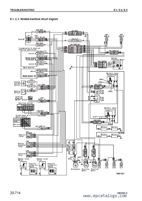 komatsu excavator wiring schematic