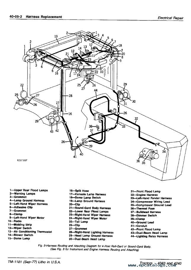 wiring diagram of 4640 john deere