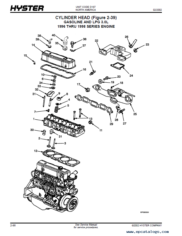 hyster forklift engine diagram