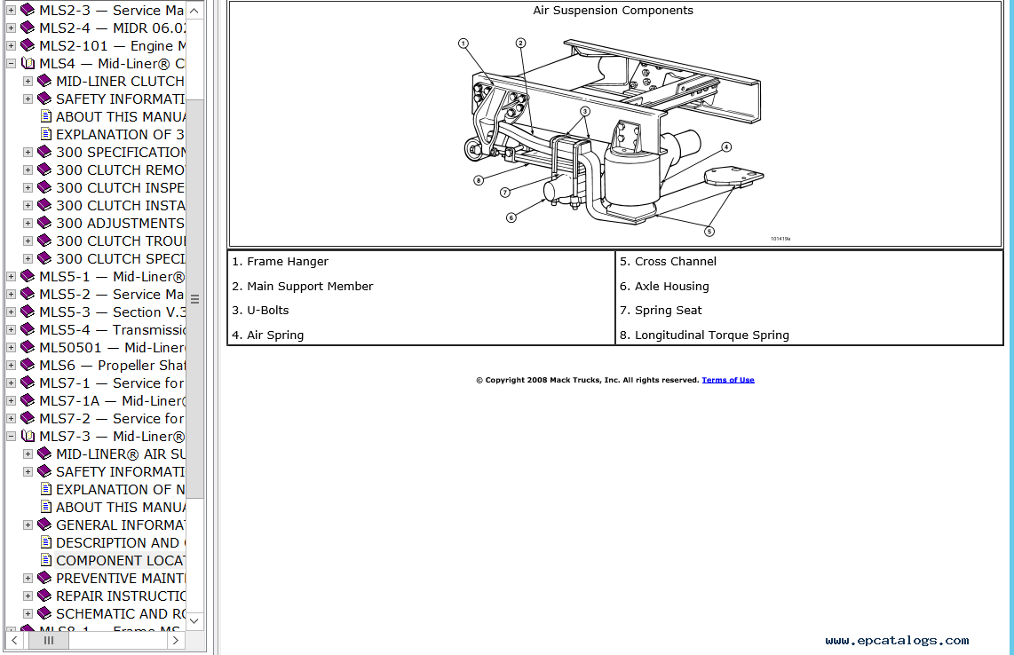 screenshots for mack trucks electrical service documentation