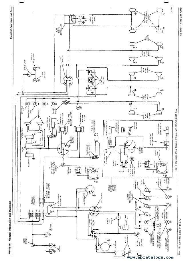 john deere 4240 wiring schematic