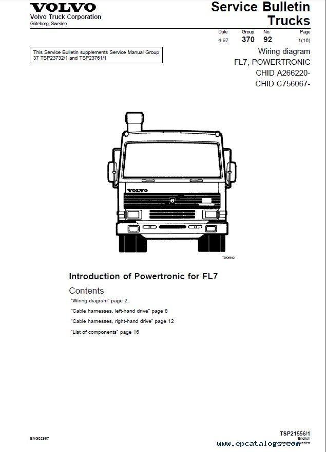 Volvo Semi Engine Diagram - Wiring Diagram \u2022