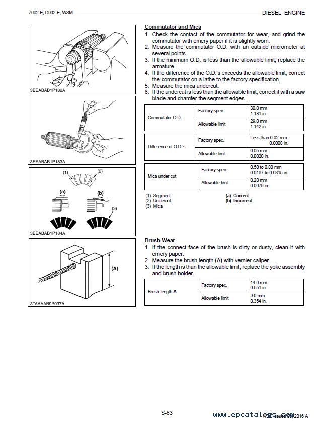 kubota engine parts manual online