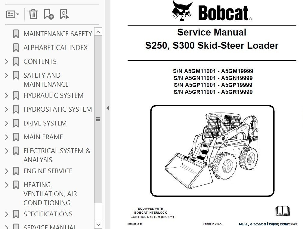 Bobcat S250 Parts Diagram Wiring Diagram