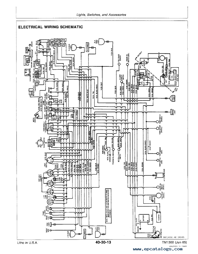 john deere 1010 tractor wiring diagram