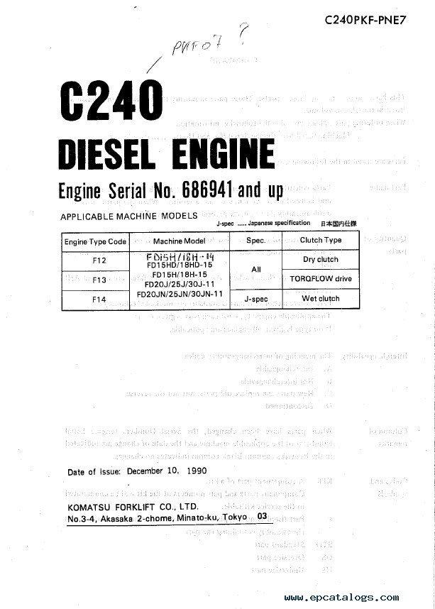 komatsu fg15 service manual