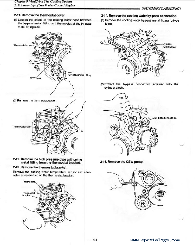 yanmar 1gm10 engine diagram