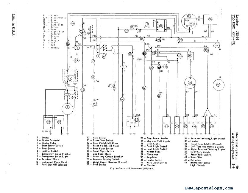 john deere 6400 wiring schematic
