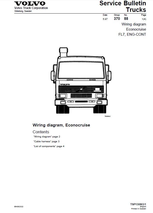 Volvo Truck Wiring Wiring Diagram