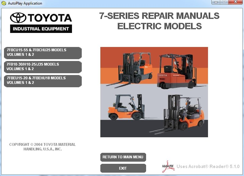 Toyota Forklift 7-series Repair Manual Download