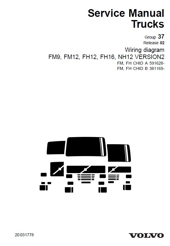 Volvo Truck FM7/9/10/12 FH12/16 NH12 Wiring Diagrams PDF