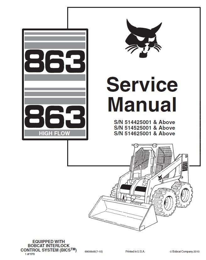 wiring diagram for bobcat 863