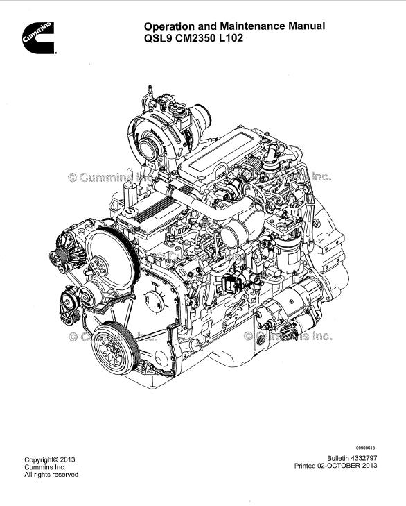 cummins qsl9 engine parts manual