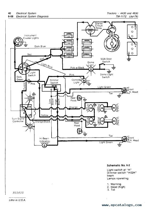 john deere 4630 wiring diagram
