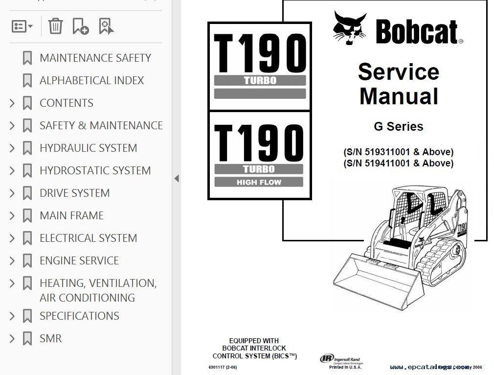 bobcat t190 manual