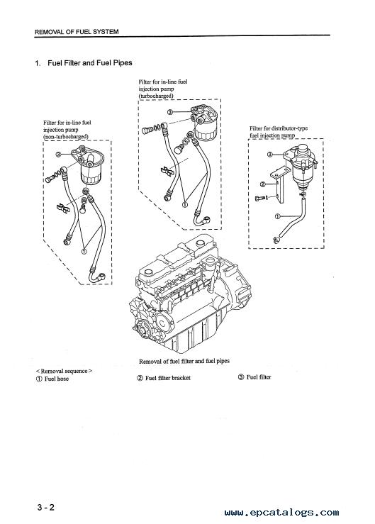 mitsubishi s6s engine parts manual