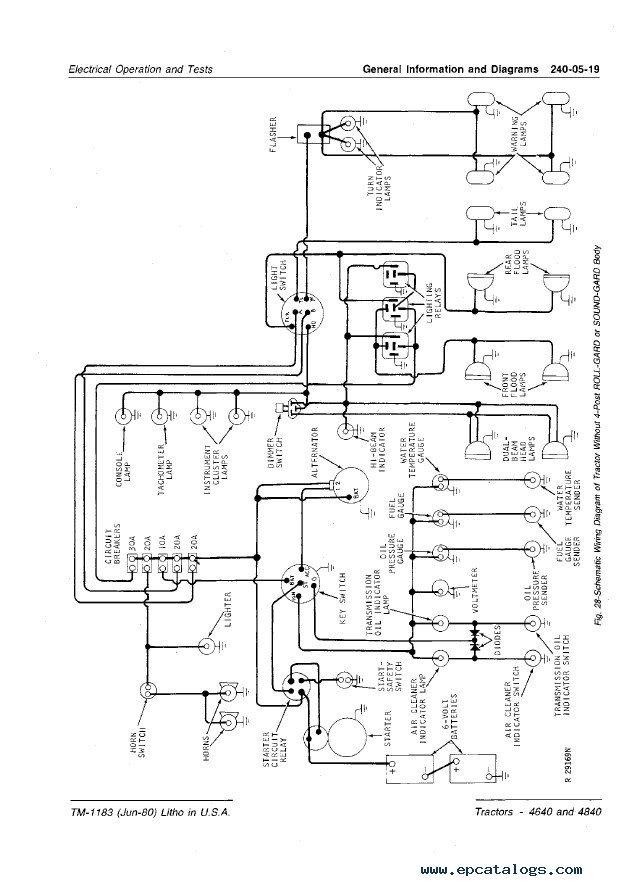 john deere 4640 wiring diagram