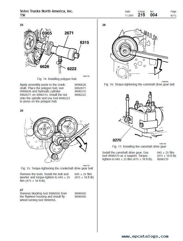 volvo d12 engine belt diagram