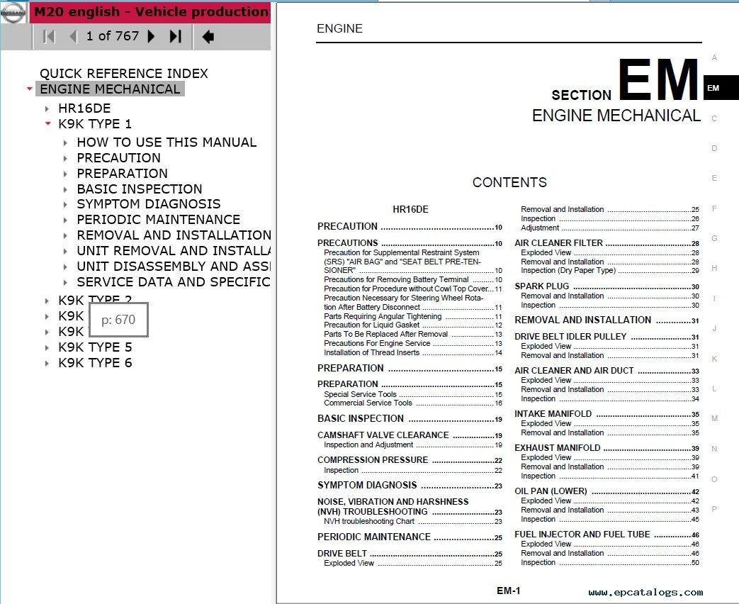 nissan electronic service manuals repair manual cars repair manuals