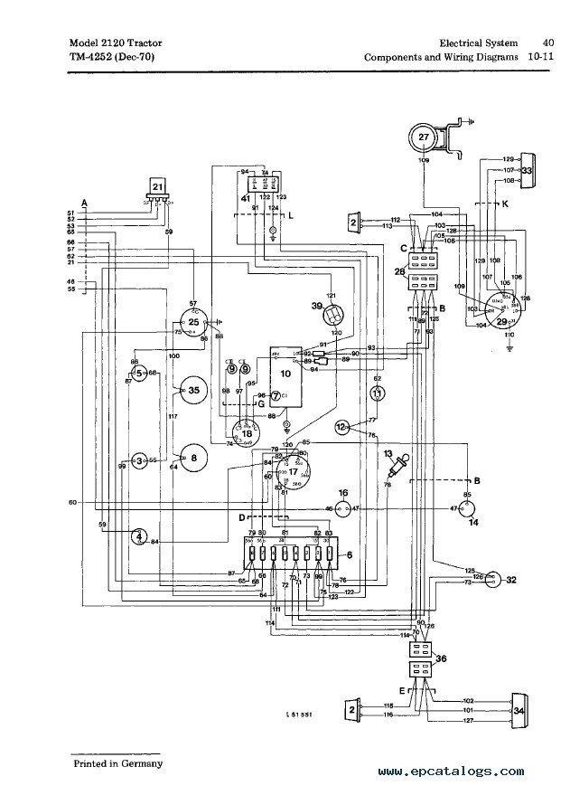 John Deere 2120 Tractor TM4252 Technical Manual PDF