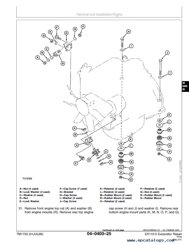 hitachi excavator alternator wiring
