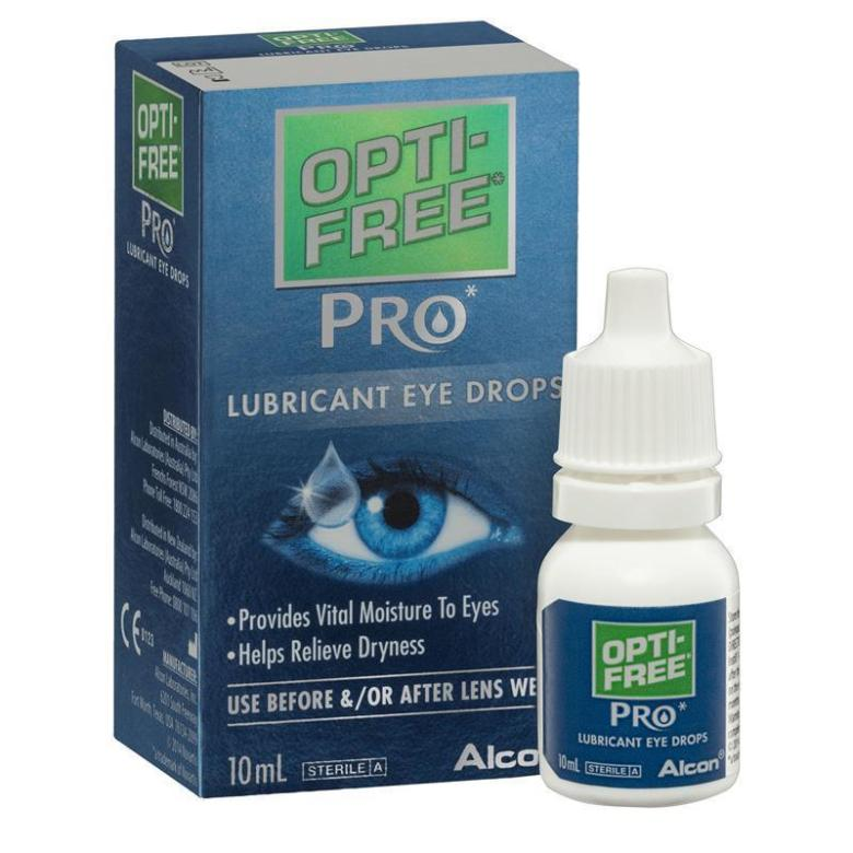 Opti Free Pro Lubricating Eye Drops 10ml Magnified View