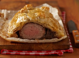 Fillet Wellington in puff pastry