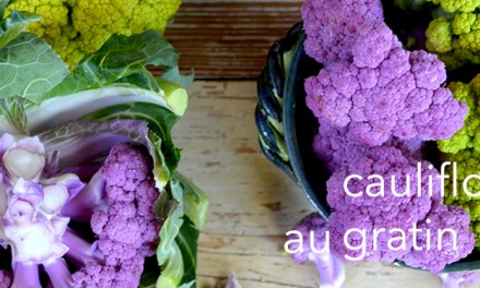 Chartreuse and Purple Cauliflower au Gratin