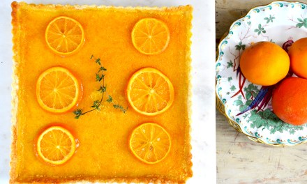 Kitchen Therapy ~ Sonoran Orange & Ginger Tart